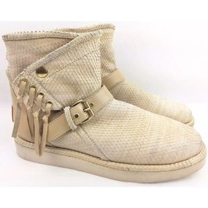 UGG Italian Collection Karisa Scales Fringe Boots
